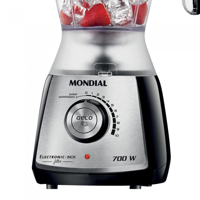 Liquidificador Eletronic C/ Filtro Inox 700W L-63 127 V - Mondial  - ShopNoroeste.com.br