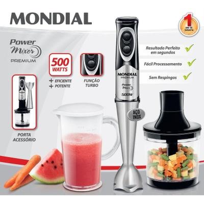 Mixer Power 2 em 1  2 Velocidades M-07 127V - Mondial  - ShopNoroeste.com.br