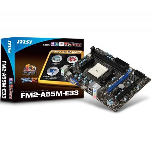 Placa Mãe MSI FM2 HDMI Serial M-ATX FM2-A55M-E33  - ShopNoroeste.com.br