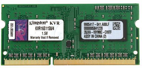 Memória Kingston KVR16S11S8 4096MB Notebook DDR3 1600 MHz  - ShopNoroeste.com.br