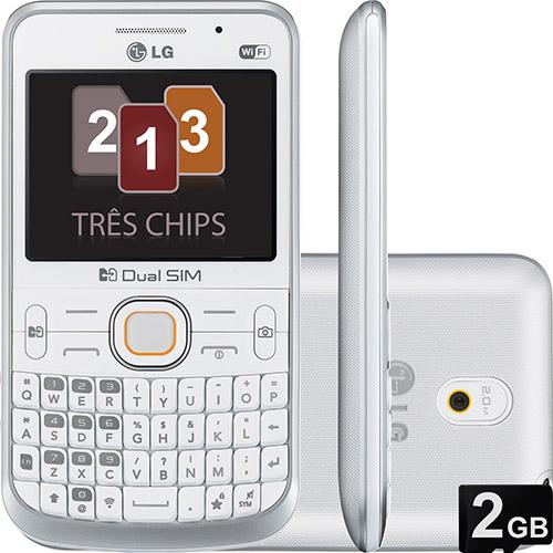 Smartphone LG Tri Chip Branco - LGC398  - ShopNoroeste.com.br