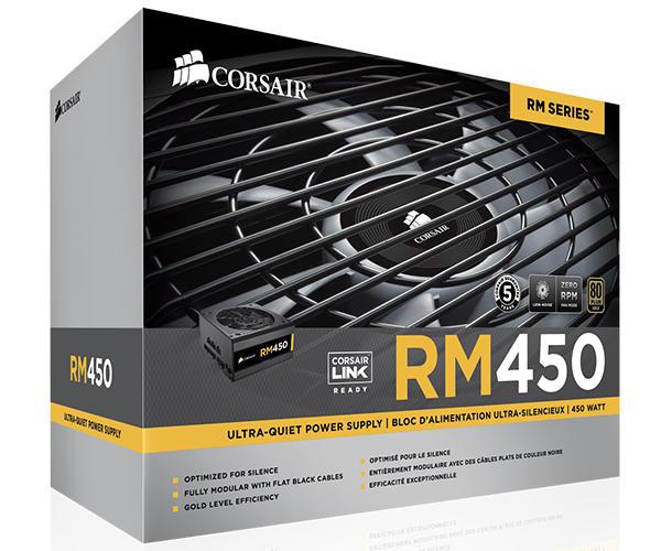 Fonte Corsair 450W RM450 Plus Gold CP-9020066-WW  - ShopNoroeste.com.br