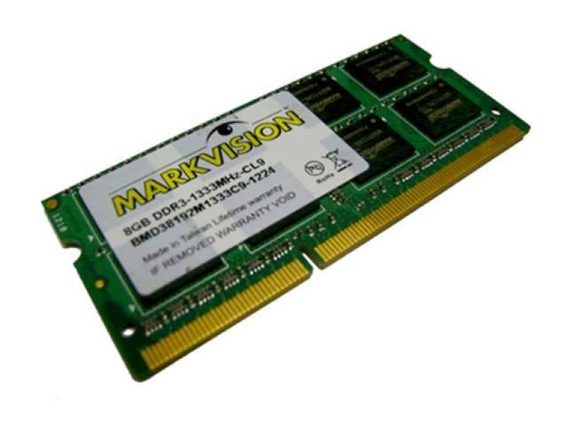 Memória Markvision KMM8GBD3-1333 8192 Notebook DDR3 1333  - ShopNoroeste.com.br