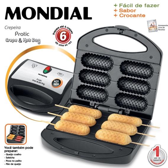 Crepeira Mondial Pratic Crepe e Hot Dog CP-01 220V  - ShopNoroeste.com.br