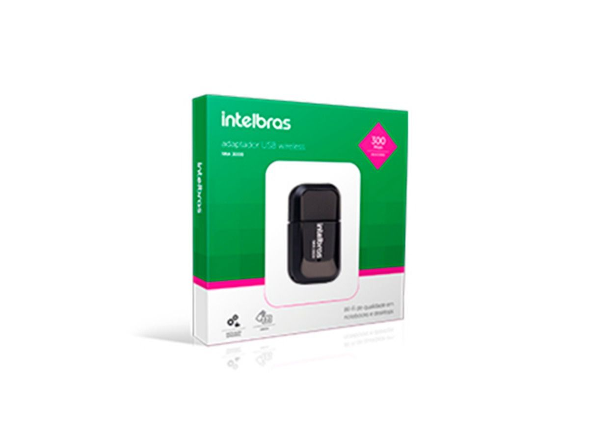 Adaptador Wireless Usb Intelbras Alcance 300m Iwa 3000  - ShopNoroeste.com.br