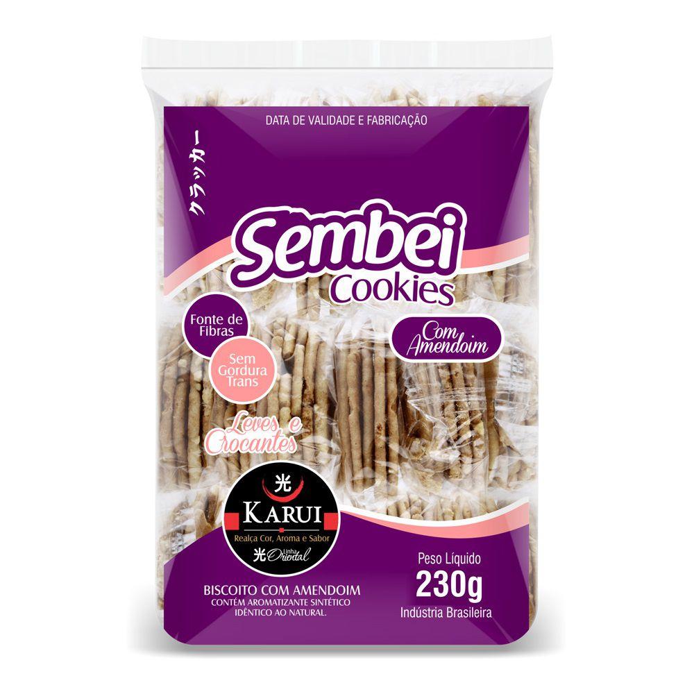 Biscoito Sembei Amendoim Karui 230g Zero Gordura Trans  - ShopNoroeste.com.br