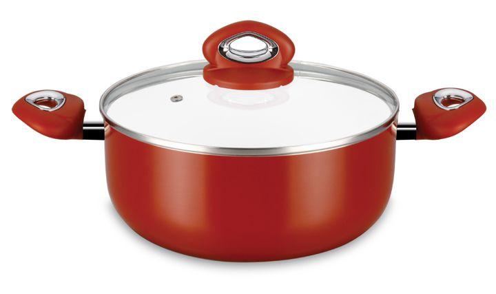 Caçarola Ceramic Dark Red 22 cm Super Reforçada 3mm - Eirilar  - ShopNoroeste.com.br