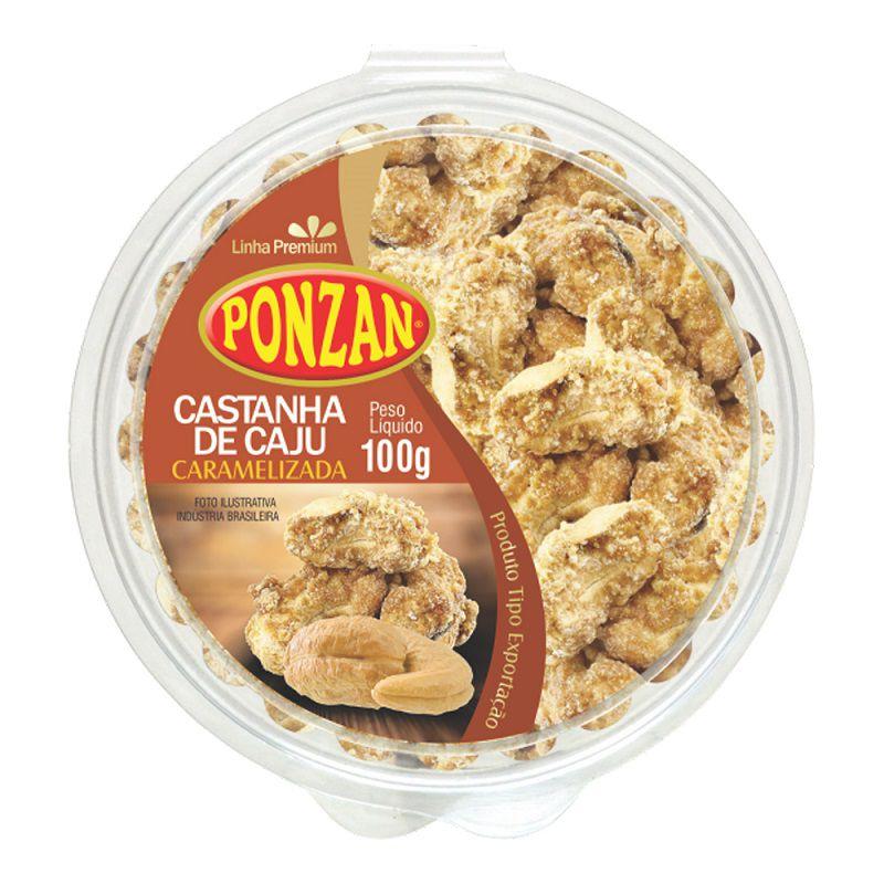 Castanha de Caju Caramelizada Premium Tipo Exportação Ponzan 100g  - ShopNoroeste.com.br