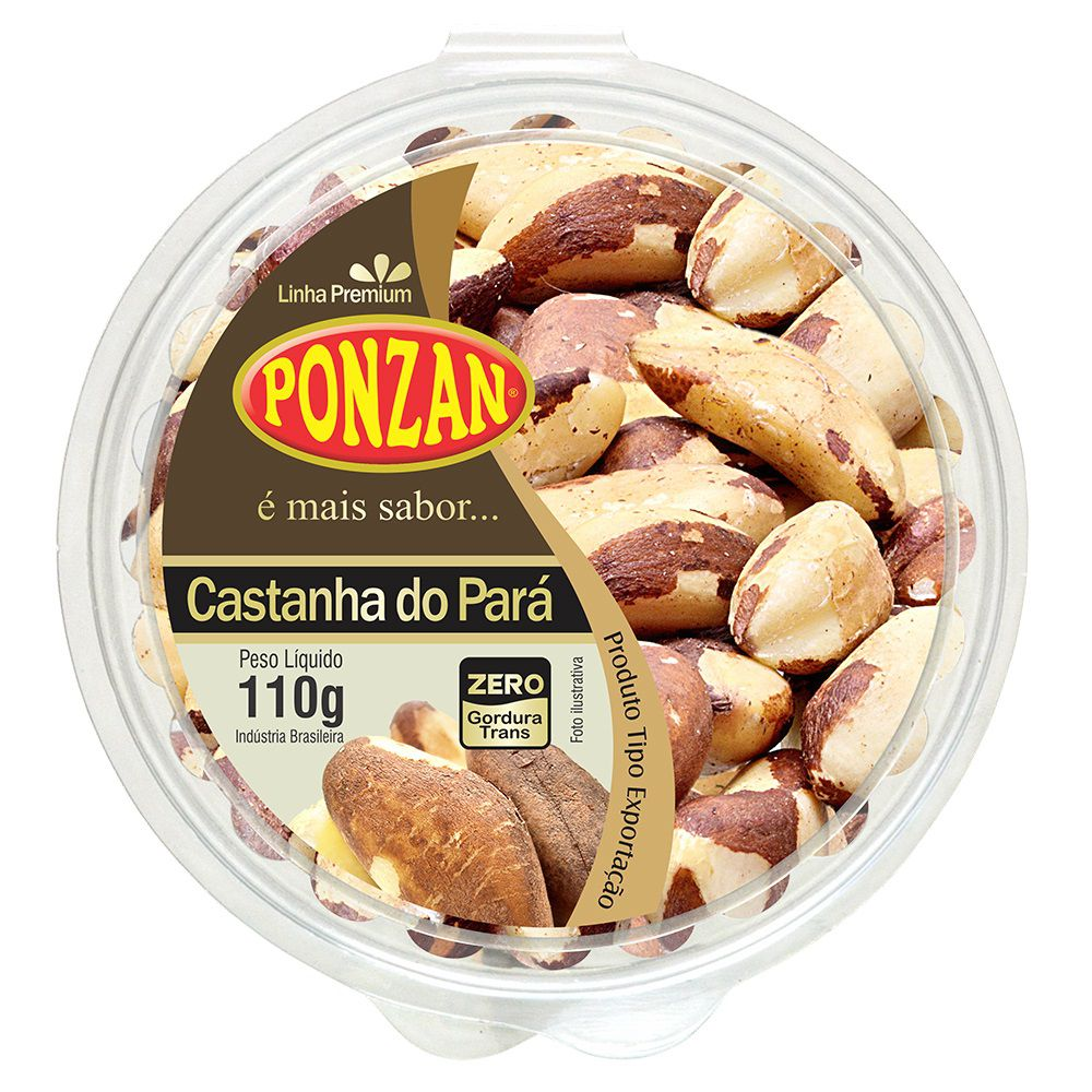 Castanha do Pará Premium Tipo Exportação Ponzan 110g  - ShopNoroeste.com.br