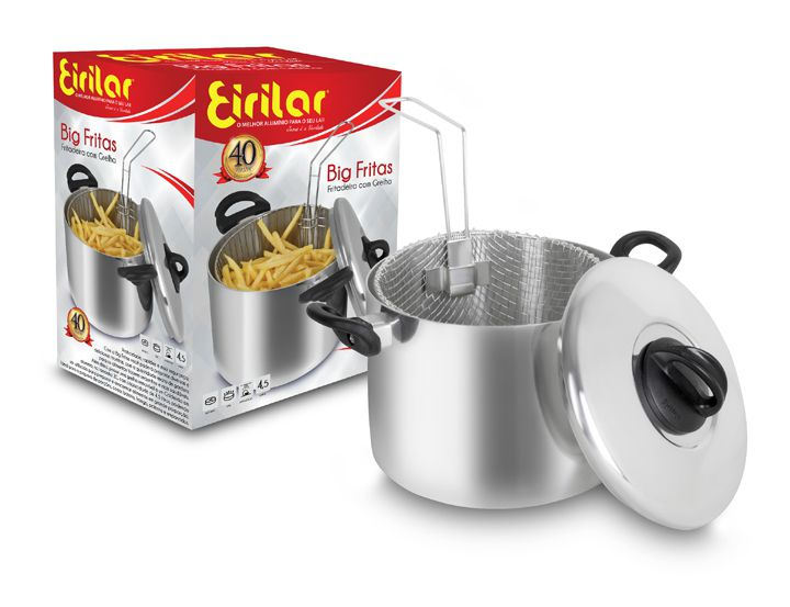 Fritadeira Eirilar Big Fritas 5 Litros com Grelha Removível  - ShopNoroeste.com.br