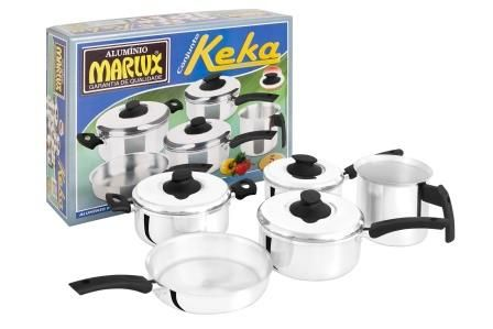 Jogo de Panelas Keka 5 Peças Polido - Marlux  - ShopNoroeste.com.br