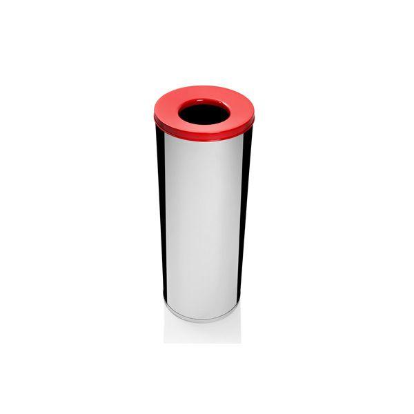 Lixeira Inox Com Abertura Superior 19,5 Litros Plastico Vermelha - Só Lixeiras  - ShopNoroeste.com.br