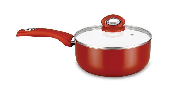 Panela Ceramic Dark Red 18 cm Super Reforçada 3mm - Eirilar  - ShopNoroeste.com.br