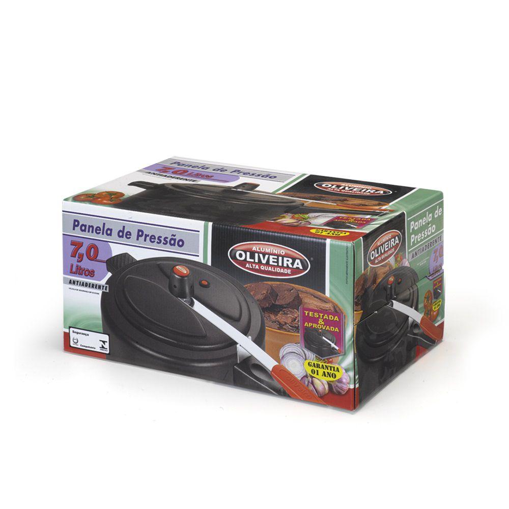 Panela de Pressão 7 Litros Antiaderente - Oliveira  - ShopNoroeste.com.br