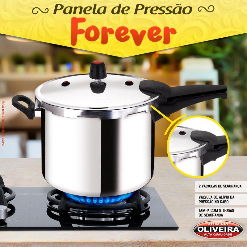 Panela de Pressão Oliveira Fechamento Externo 8 Litros Polida  - ShopNoroeste.com.br