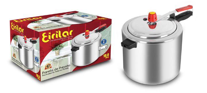 Panela de Pressão Super Polida 10 Litros - Eirilar  - ShopNoroeste.com.br