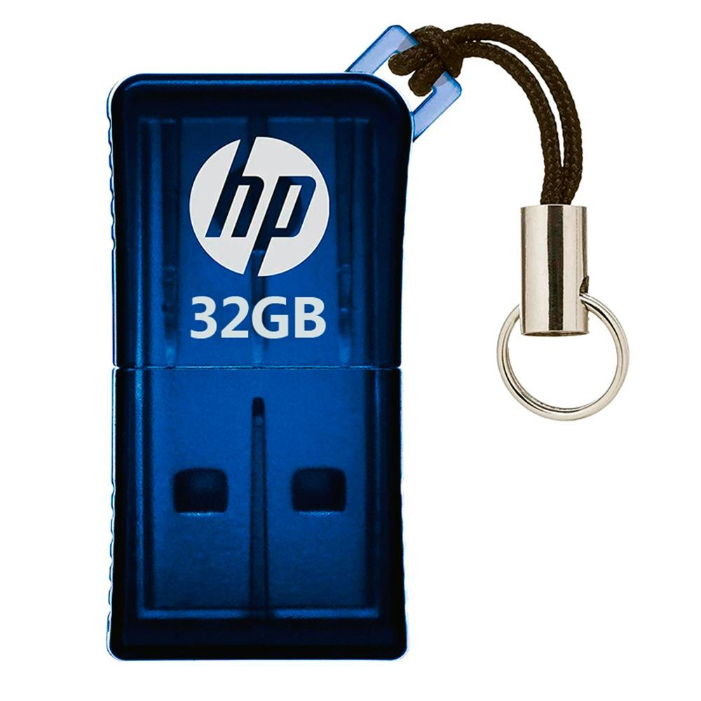Pen Drive Hp 32Gb Azul Usb V165W  - ShopNoroeste.com.br
