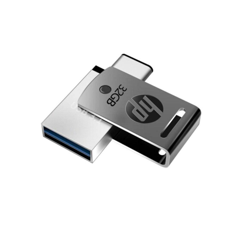 Pen Drive Dual HP Para Smartphone X5000M 32GB, USB 3.1 + Tipo C  - ShopNoroeste.com.br
