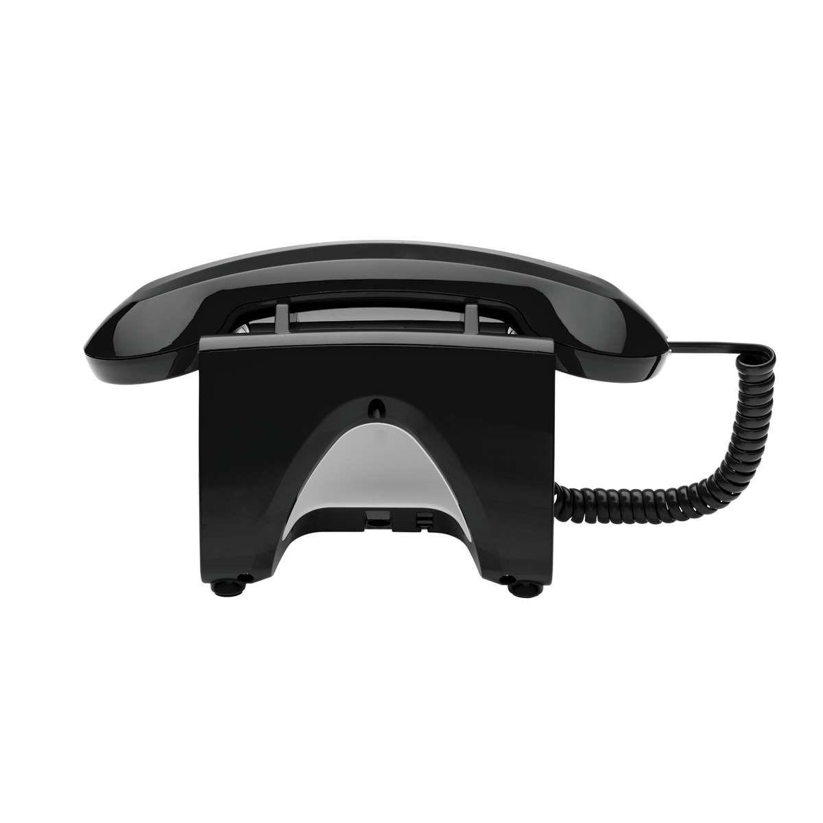 Telefone Intelbras TC 8312 Retro Preto  - ShopNoroeste.com.br