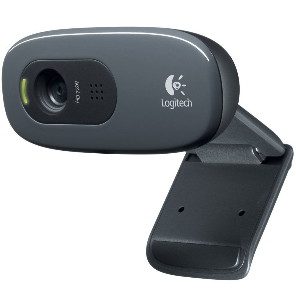 Webcam Logitech USB 3 MegaPixels Plug e Play HD 720P C270  - ShopNoroeste.com.br