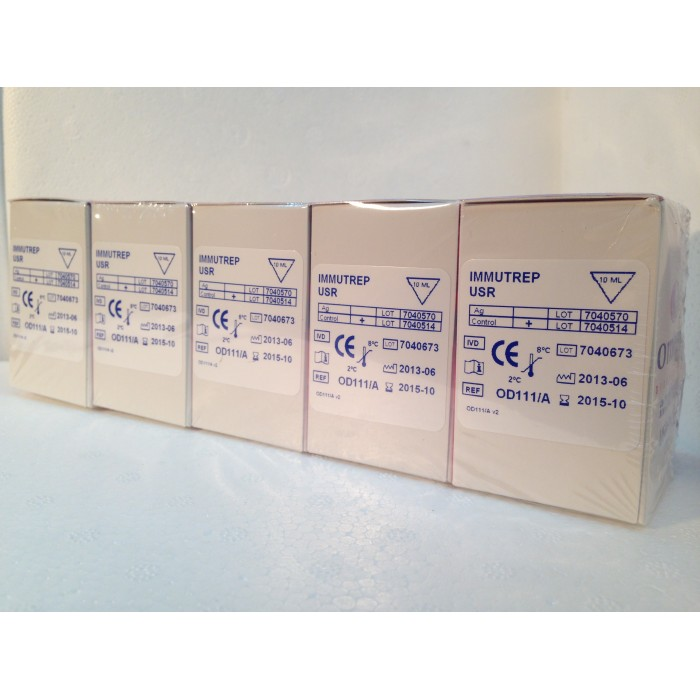USR (VDRL) FLOCULACAO C/ CONTROLE  POS.  -  10 ML - 454 TESTES  - Master Diagnóstica