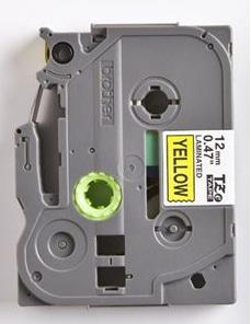 Fita Rotulador Brother TZE-631 12mm Preto/Amarelo