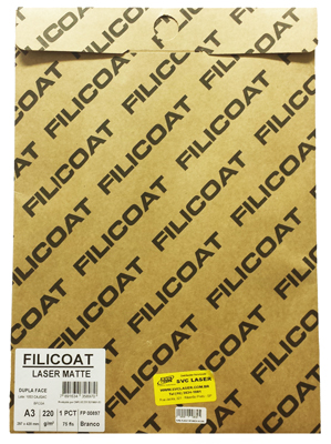 Papel Filicoat 220 g/M² Formato A3 (297x420mm)