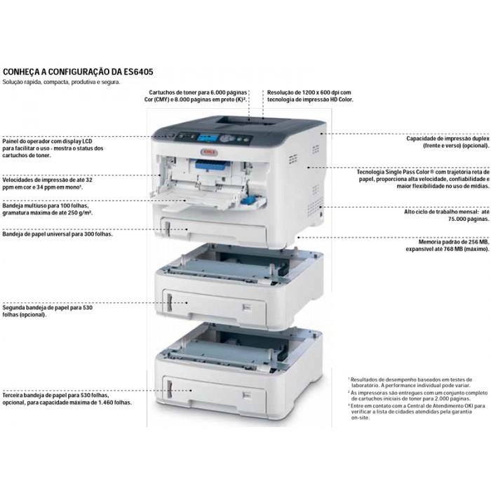 Impressora Laser Colorida Okidata ES6405