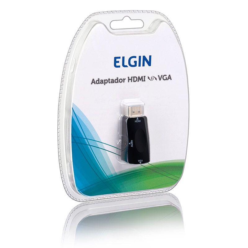 Adaptador HDMI – VGA Elgin - Para Projetores e Notebooks