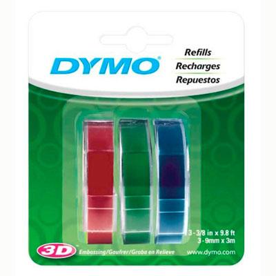 Blister com 3 Fitas Coloridas para Rotulador Manual Dymo