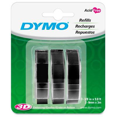 Blister com 3 Fitas Pretas para Rotulador Manual Dymo