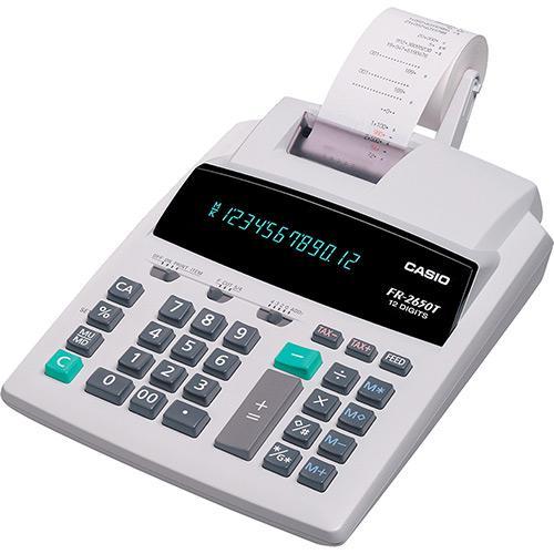 Calculadora c/ Bobina Casio FR-2650T 12 Dígitos e 2 Cores Impressão 110V