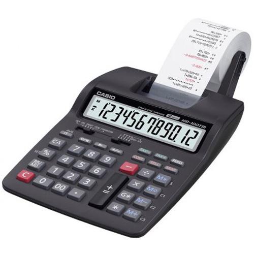 Calculadora com Bobina Casio HR-100TM Compacta 12 dígitos