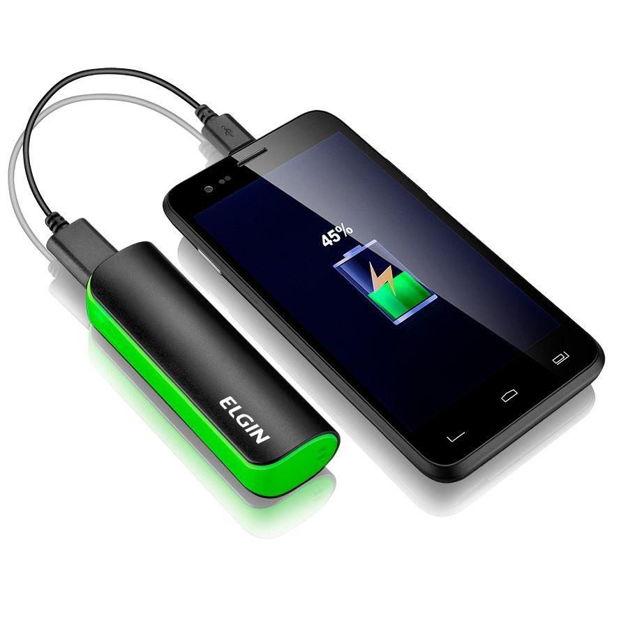 Carregador Portátil Powerbank USB CP 2.600mah Elgin