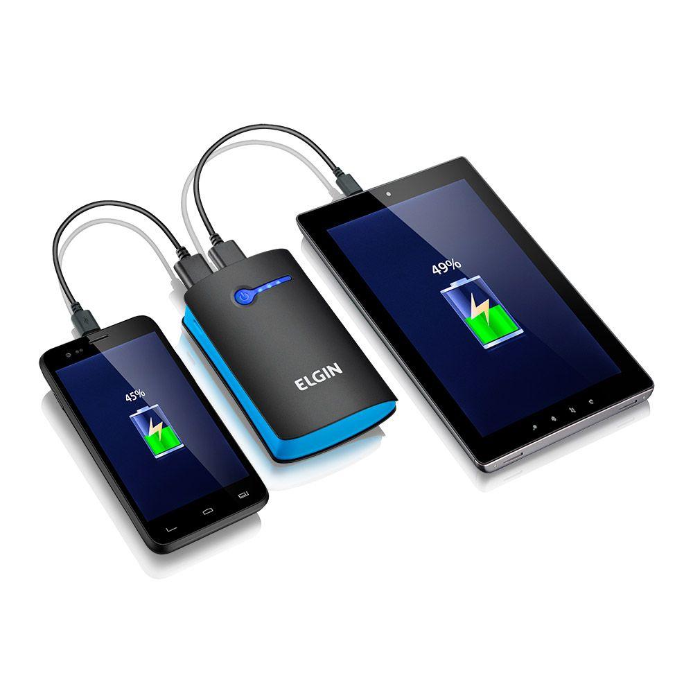 Carregador Portátil Powerbank USB CP 5200mah Elgin