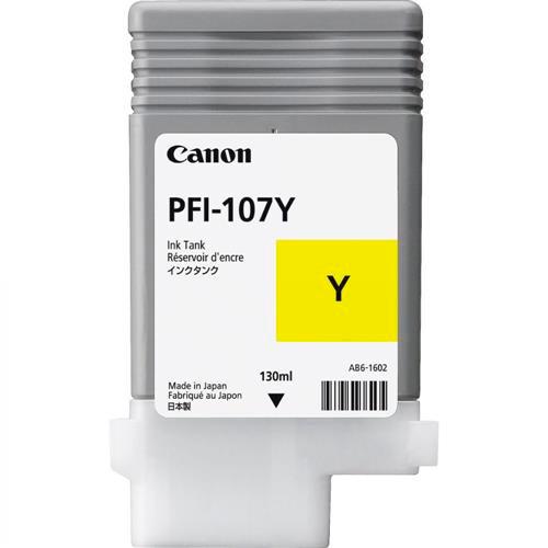 Cartucho de Tinta Amarelo Canon PFI-107Y