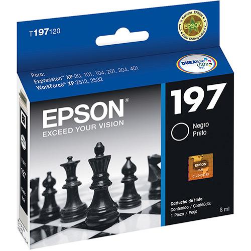 Cartucho de Tinta Epson T197120 Preto XP201 XP204 XP411