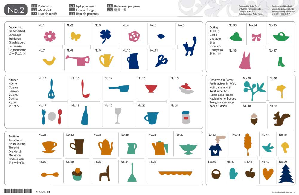 Coleção Desenhos Para Aplique e Craft Brother ScanNCut
