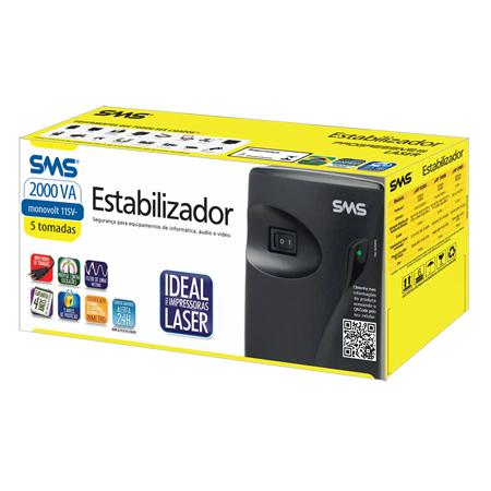 Estabilizador SMS Progressive III Laser 2000VA - 110/115V