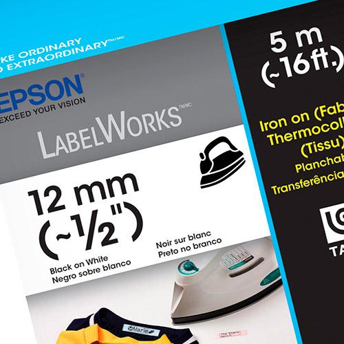 Fita Rotulador Epson LC-4WBQ5 12mm Aderente a Tecido