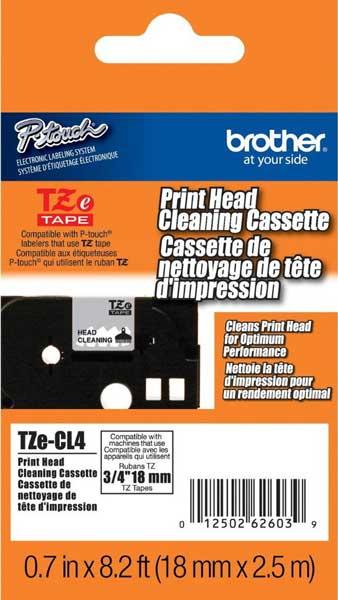 Fita de 18mm p/ Limpeza da Cabeça de Impressão P-Touch TZECL-4