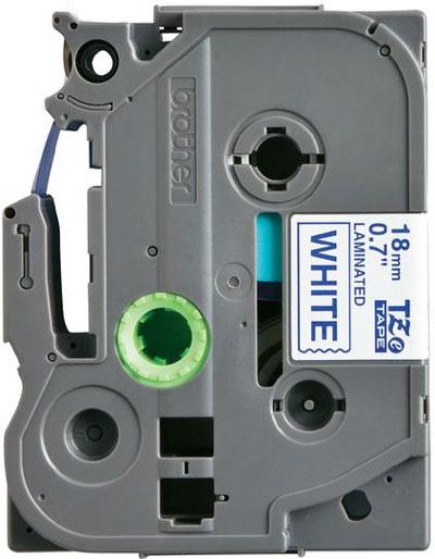 Fita Rotulador Brother TZE-243 18mm Azul/Branco