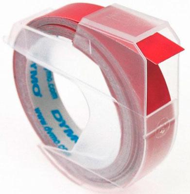 Fita para rotulador manual Dymo 9mm x 3,6m Vermelha