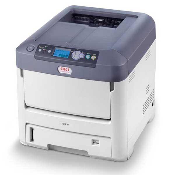 Impressora Laser A4 com Toner Branco Okidata C711 WT - 62439301