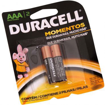 Pilha Alcalina Duracell AAA - Pacote com 2un