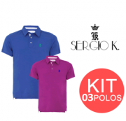 KIT 3 POLO SERGIO K