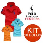 KIT 10 POLO RALPH LAUREN FEMININA