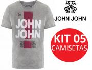 KIT 05 CAMISETA DA JOHN JOHN PERUANA CORES VARIADAS