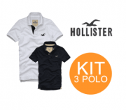 KIT 03 POLOS HOLLISTER