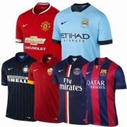 KIT 05 CAMISETA DE TIMES INTERNACIONAIS